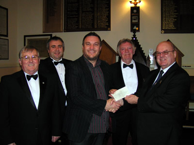 Cheque presented to Anode